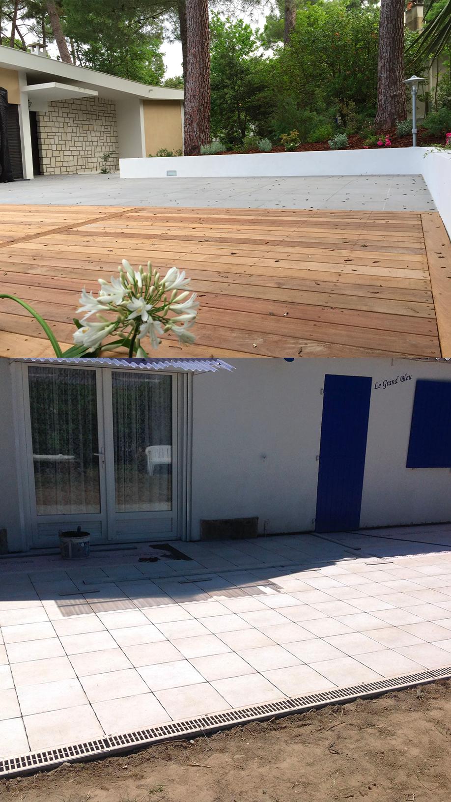 réalisation de terrasse